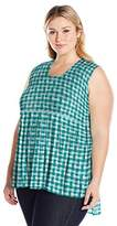 Melissa McCarthy Women's Plus Size Pleated Tank Top
