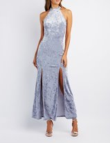 Charlotte Russe Velvet Mock Neck Maxi Dress