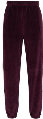 LES TIEN Velvet Effect Track Pants