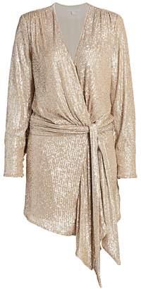 Jonathan Simkhai Sequin Draped Dress