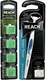 Johnson & Johnson Reach Access Flosser with Bonus Set of 28 Disposable Heads - Color may Vary