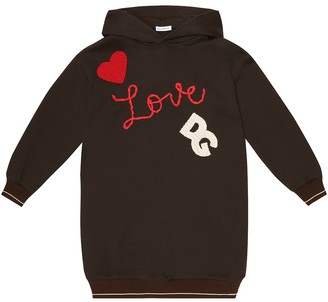 Dolce & Gabbana Kids Hooded cotton sweatshirt dress