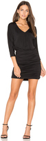 Bobi BLACK Luxe Jersey Ruched Mini Dress