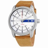 Diesel Men's Armbar DZ1783 Silver Leather Quartz Dress Watch