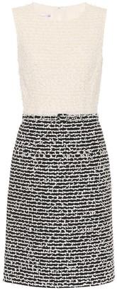 Oscar de la Renta Wool and cotton-blend shift dress