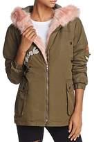 Vintage Havana Faux Fur-Trimmed Patch Parka Jacket