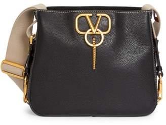 Valentino Garavani Small VRing Leather Hobo Bag
