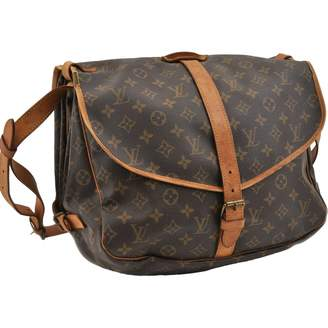 Louis Vuitton Saumur Brown Cloth Handbags