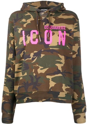 DSQUARED2 Camouflage Print Hoodie