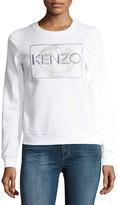 Kenzo Global Crewneck Long-Sleeve Pullover Sweatshirt