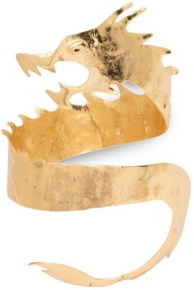 Natori Hammered Brass Dragon Cuff Bracelet