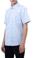 7 Diamonds Men's Cool It Down Embroidered Woven Shirt