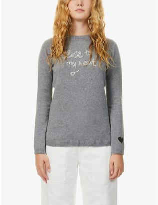Bella Freud Close To My Heart cashmere jumper