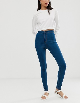 Noisy May high waist skinny jean in blue