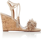 Aquazzura Women's Wild Thing Wedge Sandals-Nude