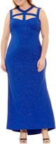BLUE SAGE Blu Sage Sleeveless Evening Gown-Plus