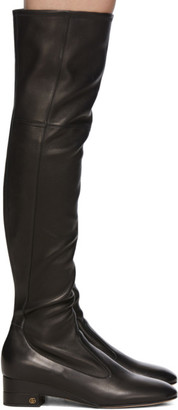 Gucci Black Nappa Claus Over-The-Knee Boots