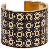 One Kings Lane Vintage Chanel Black & Gold Vintage Cuff - Vintage Lux