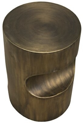 Noir Margo End Table Color: Aged Brass