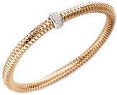 Roberto Coin Primavera Diamond and 18K Rose Gold Woven Bracelet