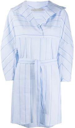 Palmer Harding Striped Waist-Tied Dress