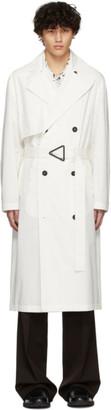 Bottega Veneta Off-White Oversized Trench Coat