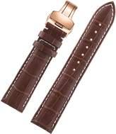 AUTULET High Grade Stylish Best Girls' Watch Strap Bracelet for Ladies Rose/Pink Gold Deployment Buckle Premium Italian Leather