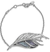 Shaun Leane 925 Sterling Silver, Diamond and Mother of Pearl White Feather Bracelet