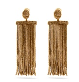 Oscar de la Renta Waterfall tassel-drop clip-on earrings