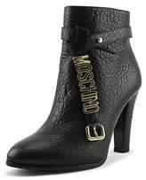 Moschino Taglia Women Round Toe Leather Black Ankle Boot.