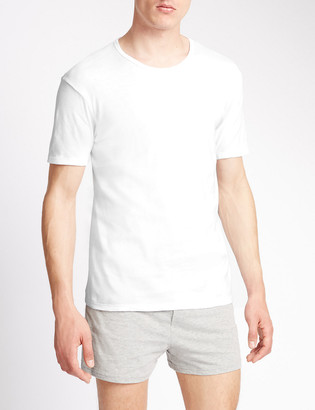 Marks and Spencer 3 Pack Pure Cotton T-Shirt Vests