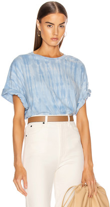Raquel Allegra Oversized Tee in Blue Stripe Tie Dye | FWRD
