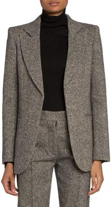 Victoria Beckham Donegal Tweed Fitted Jacket