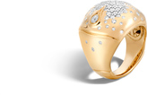 John Hardy Women's Bamboo Dome Ring in 18K Gold with Diamonds