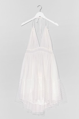 Nasty Gal Womens Up Halter Your Own Relaxed Maxi Dress - White