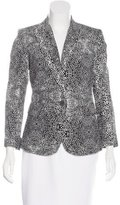 Kelly Wearstler Abstract Print Structured Blazer