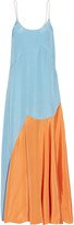 Roksanda Blain color-block silk-blend satin maxi dress