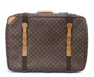 Louis Vuitton Satellite Brown Cloth Travel bags