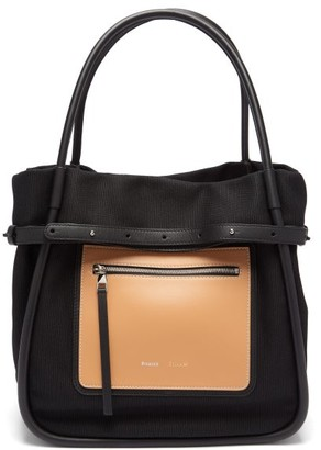 Proenza Schouler Inside Out Canvas And Leather Tote Bag - Womens - Black Multi