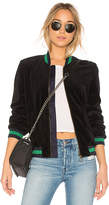 Pam & Gela Reversible Velour Bomber in Black. - size M (also in S,XS)