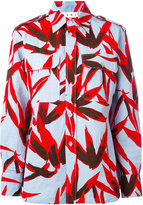 Marni graphic leaf print shirt