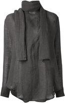 Yohji Yamamoto Style shirt - women - Linen/Flax - I