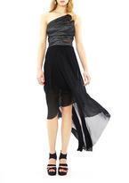 Nicole Miller Techno Metal One Shoulder Gown