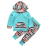 ABEE 2Pcs/Set Toddler Baby Girl Clothes Floral Hoodie Sweashirt Pants Leggings Outfit