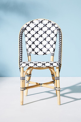 Anthropologie Woven Bistro Dining Chair By in Black Size ALL
