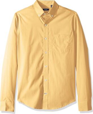 Izod Men's Premium Essentials Long Sleeve Button Down Solid Shirt