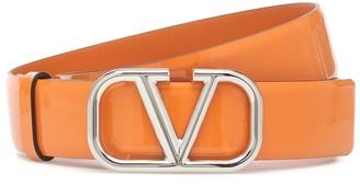 Valentino VLOGO patent leather belt