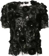 Marchesa sequinned floral blouse - women - Silk - 4