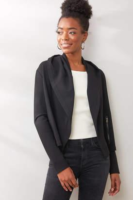 Blank NYC Taken Ponte Hooded Jacket Black S