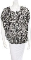 Rachel Zoe Abstract Print Oversize Silk Top